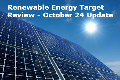 Renewable Energy Target Review – Update 23 October 2014