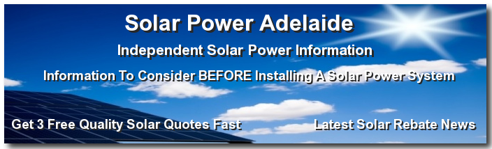 Solar energy information for Adelaide S.A.